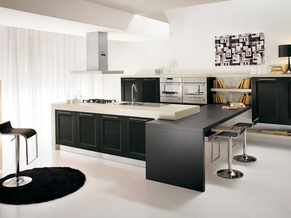 Кухня без верхних шкафов: за и против