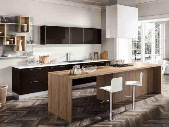 Как грамотно использовать черный цвет в интерьере кухни