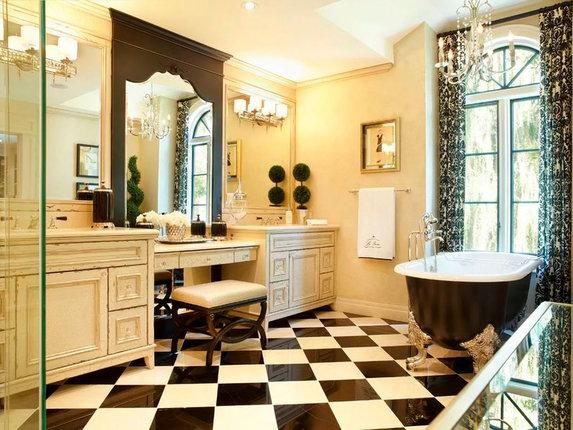 Как обустроить ванную комнату в ретро стиле