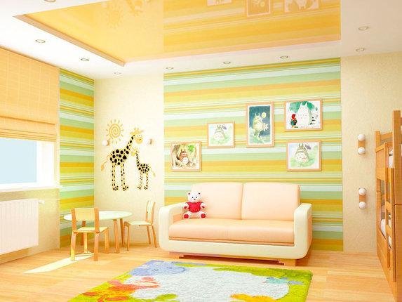 Применение разных видов обоев в детской комнате