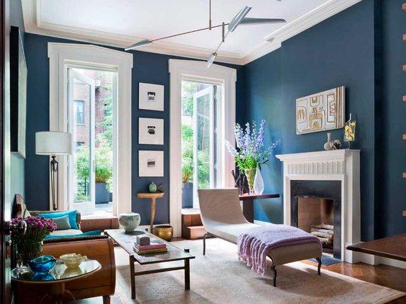 Синий цвет в интерьере дома