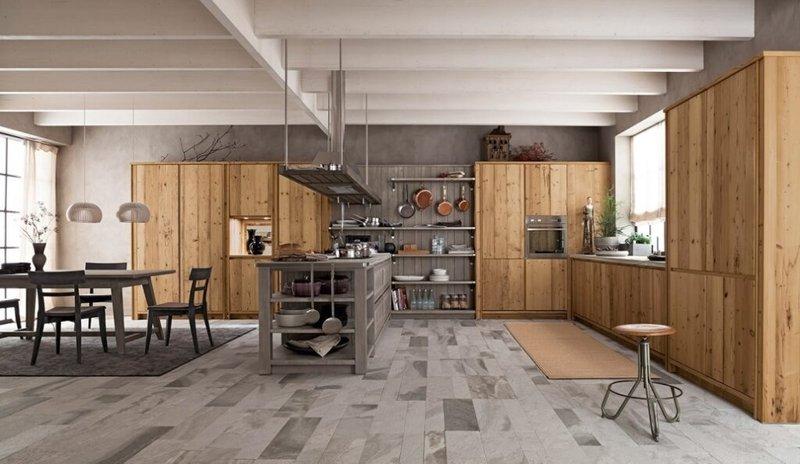 Итальянская кухня MAESTRALE M03 фабрики SCANDOLA MOBILI