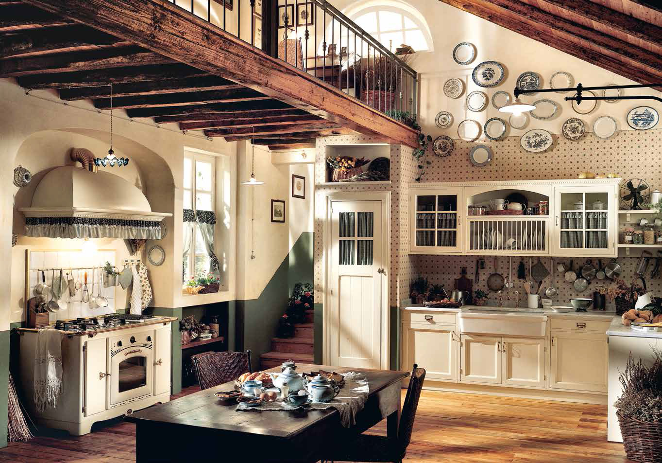 фото красивые кухни в стиле кантри домашний
