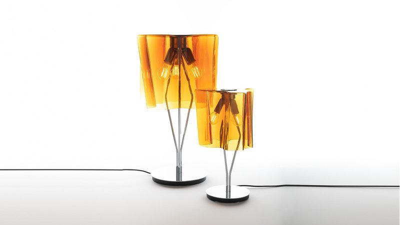 Итальянская настольная лампа Logico Tobacco/Chrome фабрики ARTEMIDE