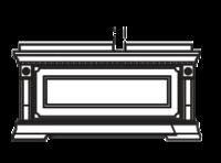 Тумба с ящиком для стеновой панели 40+60