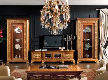 Итальянская мебель для ТВ Infinity Flair Evolution фабрики RAMPOLDI CREATIONS
