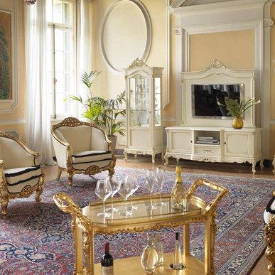Итальянская гостиная Verdi Bianco фабрики Claudio Saoncella