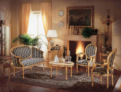 Итальянская мягкая мебель Luigi XVI Voltaire фабрики Angelo Cappellini