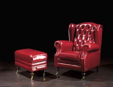 Итальянское кресло Lowell Leatherchic Collection фабрики Epoque Egon Frustenberg