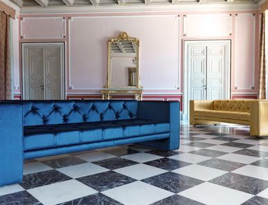 Итальянская мягкая мебель для кафе и ресторанов Club Sofa фабрики Domingo Salotti