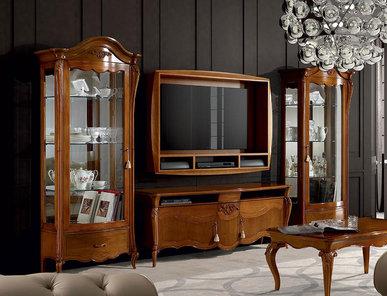 Итальянская мебель для ТВ Certosa Noce фабрики SIGNORINI & COCO