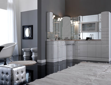 Итальянская мебель для ванной COMP. N.16 HILTON фабрики EURODESIGN