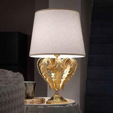 Итальянская настольная лампа ACANTIA TL1 Gold фабрики MASIERO