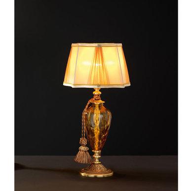 Итальянская настольная лампа ADONE LP1/Amber-Gold фабрики EUROLUCE LAMPADARI