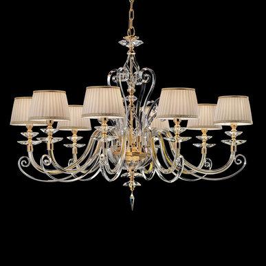 Итальянская люстра ALICANTE Shade L6/Gold фабрики EUROLUCE LAMPADARI