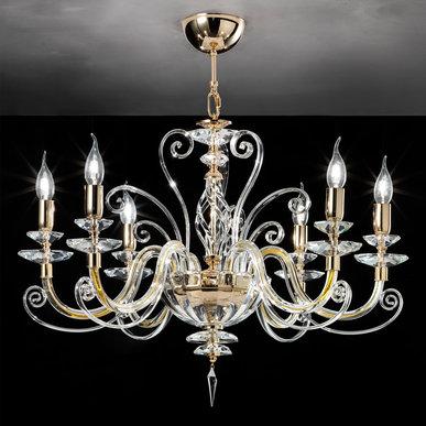 Итальянская люстра ALICANTE h70 L8/Gold фабрики EUROLUCE LAMPADARI