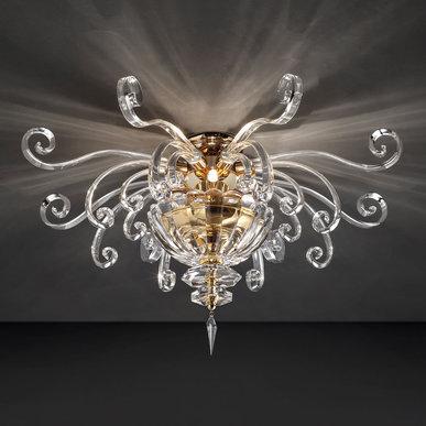 Итальянская люстра ALICANTE PL4/Gold фабрики EUROLUCE LAMPADARI