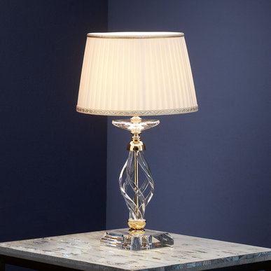 Итальянская настольная лампа ALICANTE LP1/Gold фабрики EUROLUCE LAMPADARI