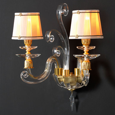 Итальянский бра ALICANTE Satin shade A2/Gold фабрики EUROLUCE LAMPADARI