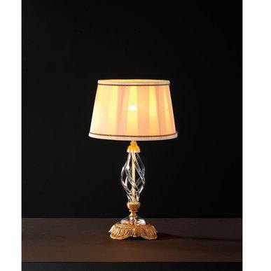 Итальянская настольная лампа ALICANTE Satin LP1/Gold фабрики EUROLUCE LAMPADARI