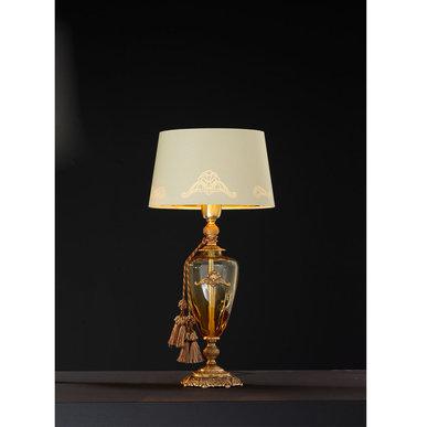 Итальянская настольная лампа ALTEA LP1/Amber-Gold фабрики EUROLUCE LAMPADARI