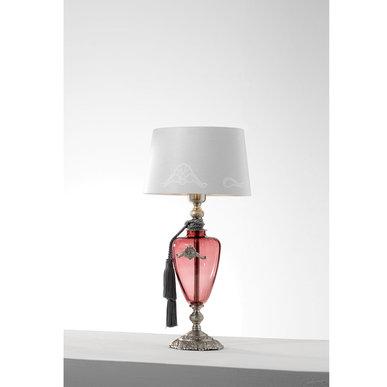 Итальянская настольная лампа ALTEA LP1/Rose-Silver фабрики EUROLUCE LAMPADARI