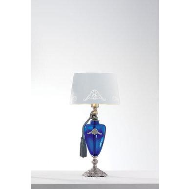 Итальянская настольная лампа ALTEA LP1/Blue-Silver фабрики EUROLUCE LAMPADARI