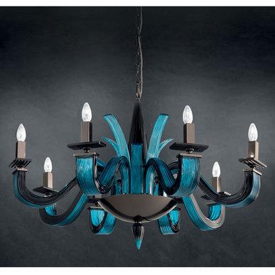 Итальянская люстра ARGO L8/Blue фабрики EUROLUCE LAMPADARI