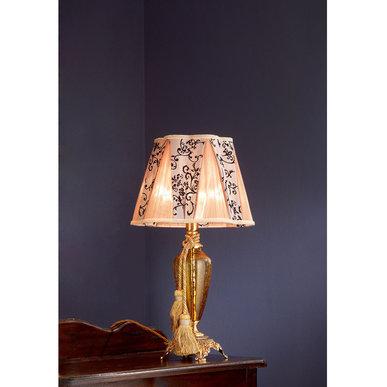Итальянская настольная лампа BAROCCO LP1/Amber-Gold фабрики EUROLUCE LAMPADARI