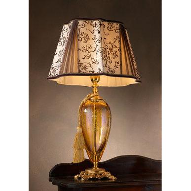 Итальянская настольная лампа LADY LG1 / Amber - Ornament фабрики EUROLUCE LAMPADARI