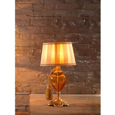 Итальянская настольная лампа LUIGI XV LP1/Amber фабрики EUROLUCE LAMPADARI
