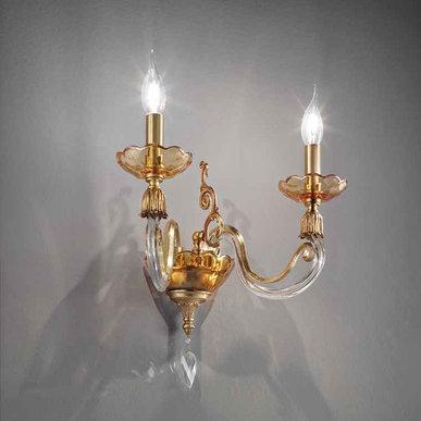 Итальянский бра LYRA A2/Amber фабрики EUROLUCE LAMPADARI