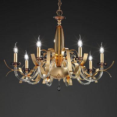 Итальянская люстра NUAGE Gold L6 фабрики EUROLUCE LAMPADARI