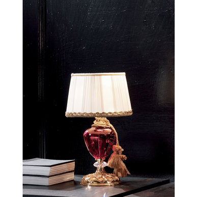 Итальянская настольная лампа RUBINO LP1 фабрики EUROLUCE LAMPADARI