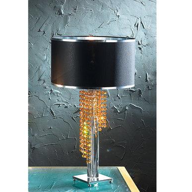 Итальянская настольная лампа VENICE lux LG1/Black-Amber фабрики EUROLUCE LAMPADARI