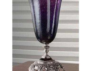 Итальянская ваза BAROCCO Big vase/Violet - Silver фабрики EUROLUCE LAMPADARI