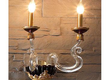 Итальянский бра BAROCCO A2/Violet-Gold фабрики EUROLUCE LAMPADARI