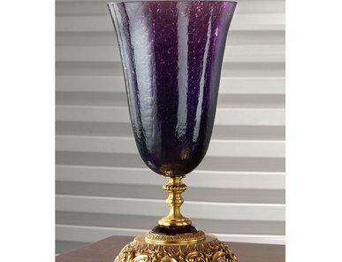 Итальянская ваза BAROCCO Big vase/Violet-Gold фабрики EUROLUCE LAMPADARI