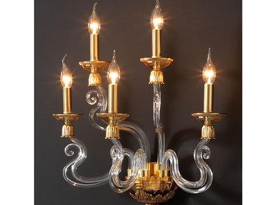 Итальянский бра BAROCCO A5/Amber-Gold фабрики EUROLUCE LAMPADARI