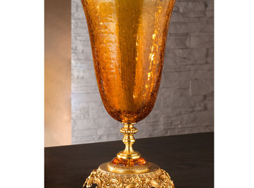 Итальянская ваза BAROCCO Big vase/Amber-Gold фабрики EUROLUCE LAMPADARI