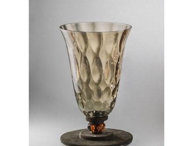 Итальянская ваза DAHLIA Vase/Brown фабрики EUROLUCE LAMPADARI