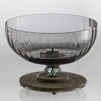 Итальянская ваза DAHLIA Centrepiece/Grey фабрики EUROLUCE LAMPADARI
