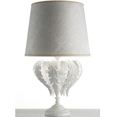 Итальянская настольная лампа ACANTIA TL1 White фабрики MASIERO
