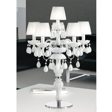 Итальянская настольная лампа MILORD TL5+1 White фабрики MASIERO