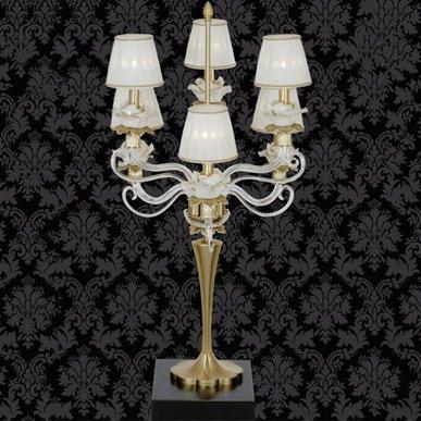 Итальянская настольная лампа Flower NCL 305 Oro фабрики JAGO