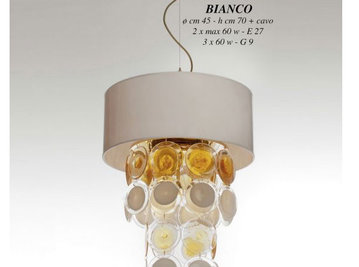 Итальянская люстра Anni 70 170 O/B BIANCO фабрики JAGO