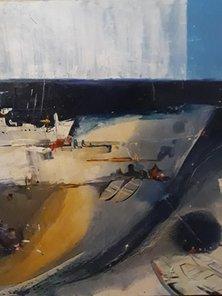 "Картина ""Пустой берег"",  80х90, холст, масло, акрил, Эльдар Кавшбая, 2016г."