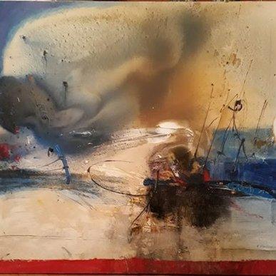 "Картина ""Брошенный берег"",  110х130, смешанная техника, Эльдар Кавшбая, 2016г."