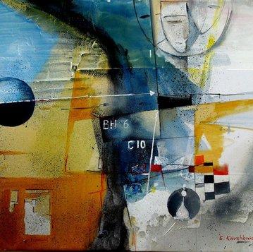 """Картина """"Тайная любовь """",  80х90, холст, масло, Эльдар Кавшбая, 2014г."""