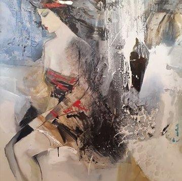 """Картина """"Мари"""", 100х110, холст, масло, Эльдар Кавшбая, 2016г."""